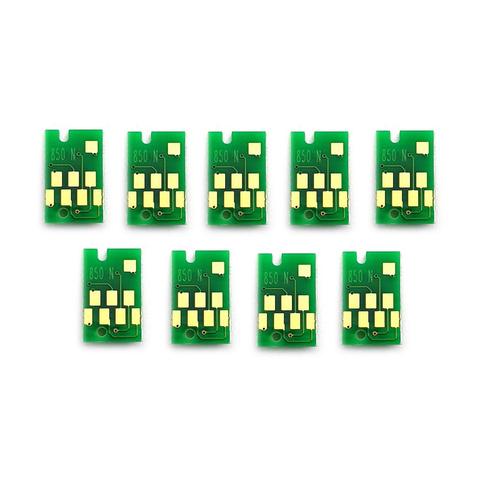 Чипы для картриджей Epson SureColor SC-P800 (T8501-T8509), комплект 9 штук.