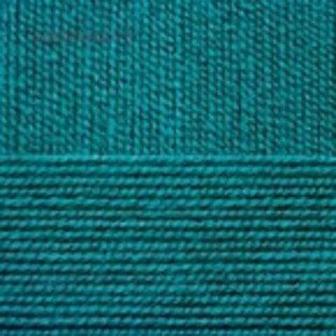 Пряжа Бисерная 573 Темный Изумруд Пехорка, фото