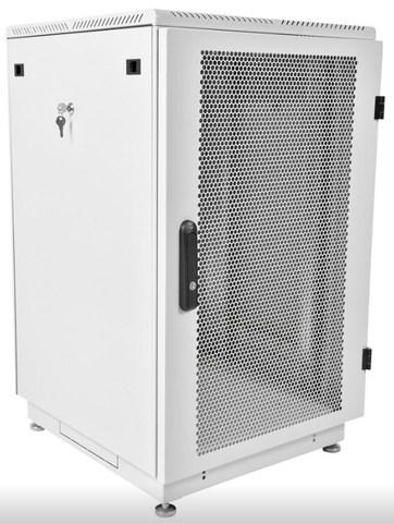 Шкаф телекоммуникационный напольный 27U (600 × 1000) дверь перфорированная 2 шт. ЦМО ШТК-М-22.6.8-44АА