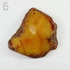 """Подвеска Агат """"Крэкл"""" (тониров) с огранкой, цвет - коричнево-желтый, 38-65 мм"""