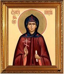 Евдокия (Ия) Римляныня, Персидская преподобномученица. Икона на холсте.