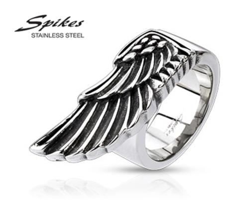 R-Q4013 Мужское кольцо с крылом из ювелирной стали, &#34Spikes&#34