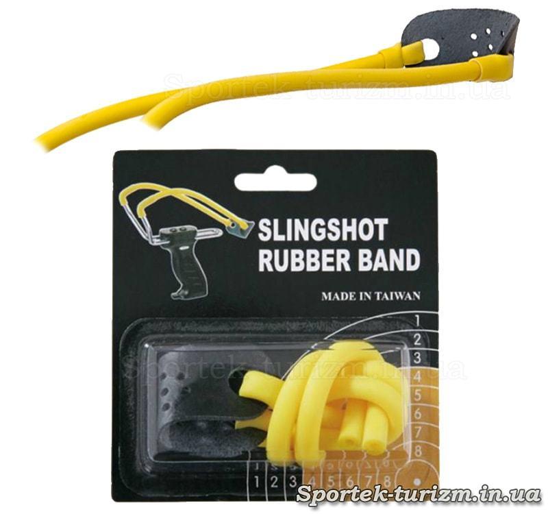 Резинка желтого цвета  MK-TR-Y для рогаток Man Kung