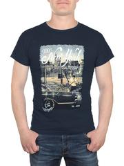 17623-1 футболка мужская, темно-синяя