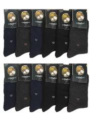 2505 носки мужские, цветные 41-47 (12шт)