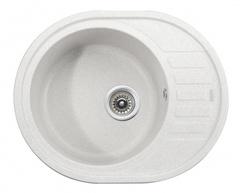 Мойка Kaiser (Кайзер) KGMO-6250-W White для кухни из искусственного камня, круглая (овальная)