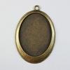 Сеттинг - основа - подвеска для камеи или кабошона 40х30 мм (цвет - античная бронза)