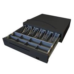 Денежный ящик МИДЛ 2.0/К большой 5 отсеков, черный с эл. приводом для Штрих