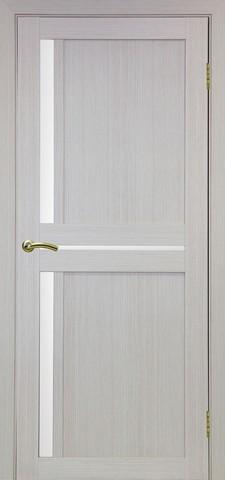 Дверь Optima Porte Турин 523.221, стекло Мателюкс, цвет беленый дуб, остекленная
