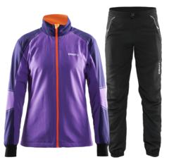 Женский лыжный костюм Craft Touring (1903695-2495-194682-9999) фиолетовый