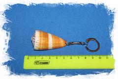 Брелок для ключей с морской ракушкой Конус