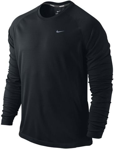 Футболка Nike Miler LS UV Top /Рубашка беговая чёрная