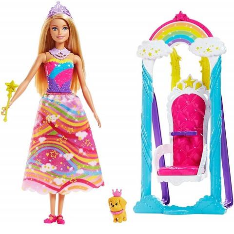 Барби Принцесса Радужной бухты и качели. Дримтопия
