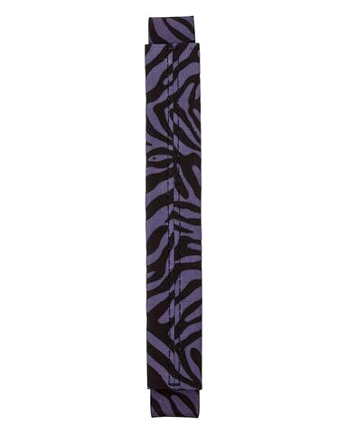 Сменная ручка из нубука с черно - синим принтом зебры