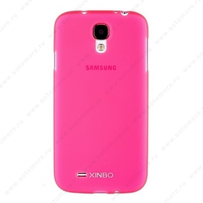 Накладка XINBO пластиковая для Samsung Galaxy S4 i9500/ i9505 розовая