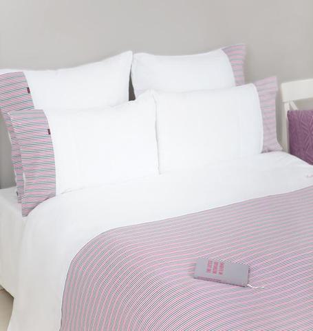 Постельное белье 2 спальное евро Luxberry Трикотаж Джерси розовое