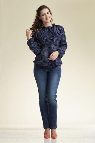 Блузка 02223 синий