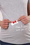 Футболка для беременных 10525 серый меланж