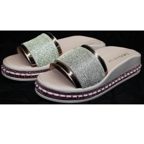 Шлепанцы розовые женские Kluchini 5259T189 SR.