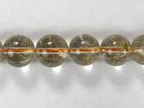 Бусина из кварца рутилового золотого, шар гладкий 10 мм