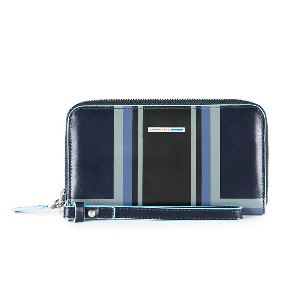Кошелек женский Piquadro Blue Square, цвет синий, 17,5x10x2,5 см (AC3131B2SER/BLU)