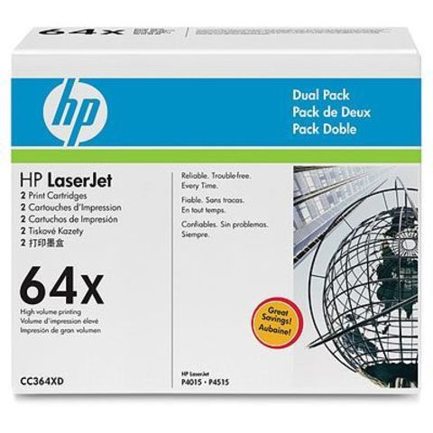 Картридж HP CC364XD - двойная упаковка картриджей для принтеров Hewlett Packard LaserJet P4015 P4515 (Ресурс 2х24000 стр.)