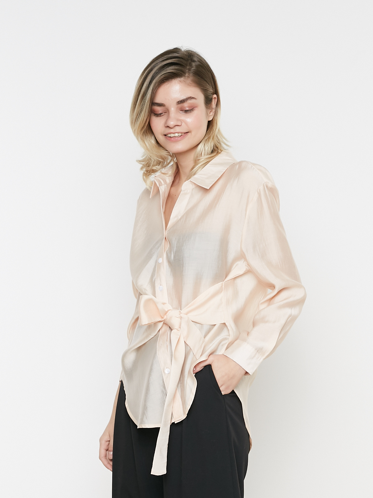 Рубашка со вшитым поясом