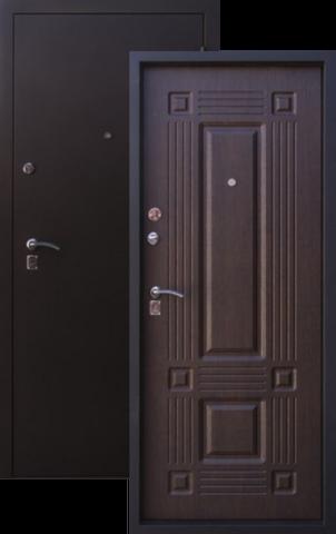 Дверь входная Алмаз Рубин, 2 замка, 1,5 мм  металл, (чёрный шёлк+венге)