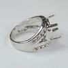 Основа для кольца с сеттингом для страза 12х10 мм (цвет - платина)