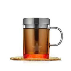 """Кружка для заваривания чая """"Дао"""" 400 мл, с металлической колбой, стеклянная"""