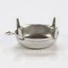 Сеттинг - основа - подвеска для страза 12х10 мм (оксид серебра)