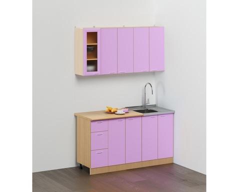 Кухня САН-МАРИНА-02 дуб беленый / фиолетовый