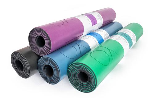 Каучуковый йога коврик Karma Green c разметкой 185*68*4,5см