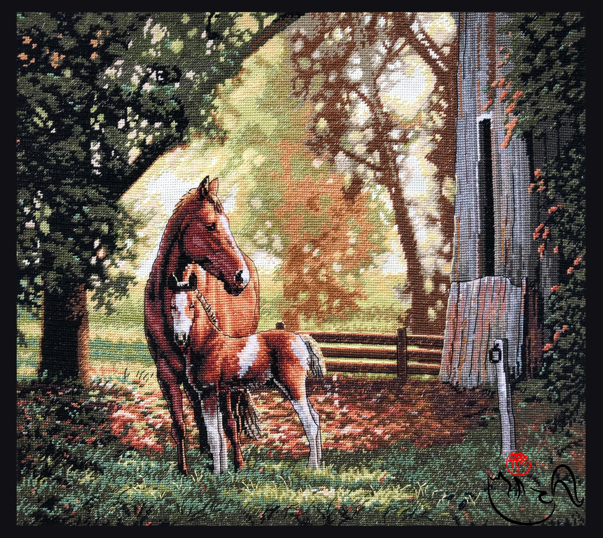 Набор для вышивания Лошадь с жеребенком. Арт. 3141