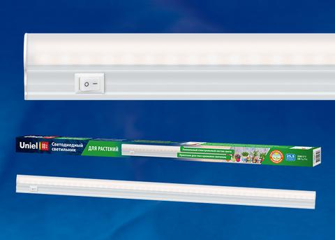 ULI-P11-35W/SPFR IP40 WHITE Светильник для растений светодиодный линейный, 1150мм, выкл. на корпусе. Спектр для фотосинтеза. TM Uniel.