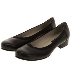 567269 Туфли женские черные кожа больших размеров марки Делфино