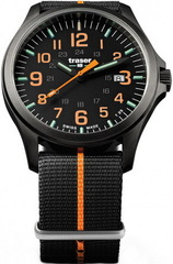 Наручные часы Traser P67 OFFICER PRO Gunmetal Black/Orange 107425 (нато)