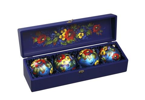 Набор из 4 елочных шаров в шкатулке SET04D-667785825