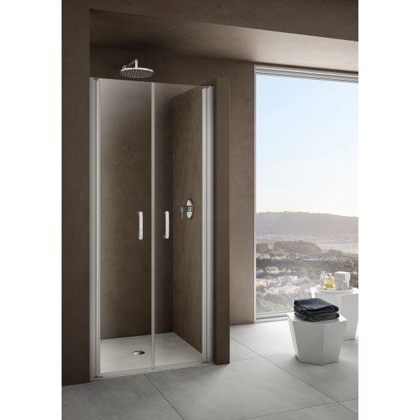 Душевая дверь в нишу Provex Look 0005 LP 05 GL 100 см мансарда туалет ванная комната