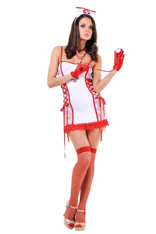 Костюм медсестры с красным декором (Медсестры)