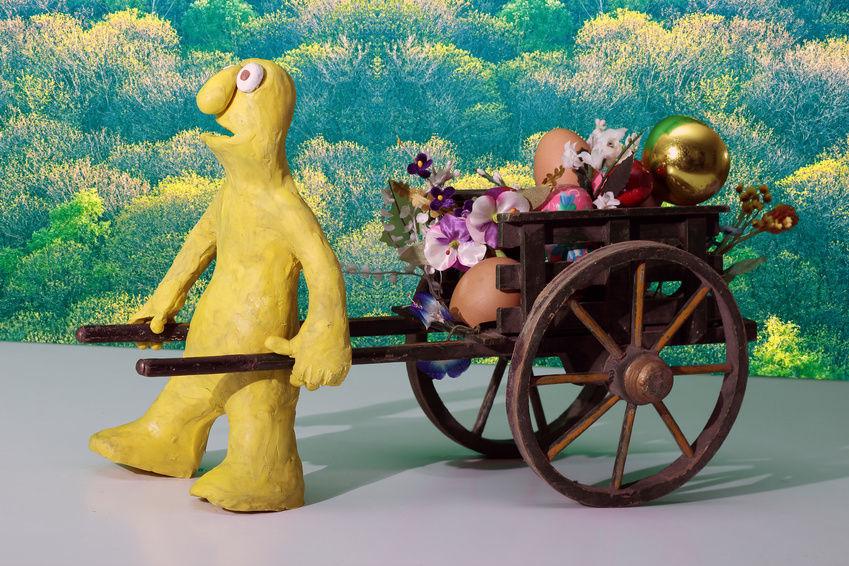 Пластилиновый персонаж из книги