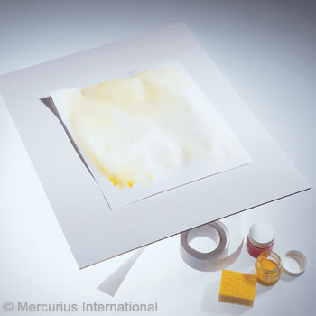 Планшет под бумагу для живописи, пластик 40х55см