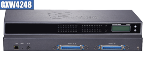 Grandstream GXW4248 - IP шлюз. 48xFXS, 1xLAN, (1GbE)Gigabit Ethernet