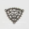 Винтажный декоративный элемент - коннектор (1-2) филигрань 18х17 мм (оксид серебра)