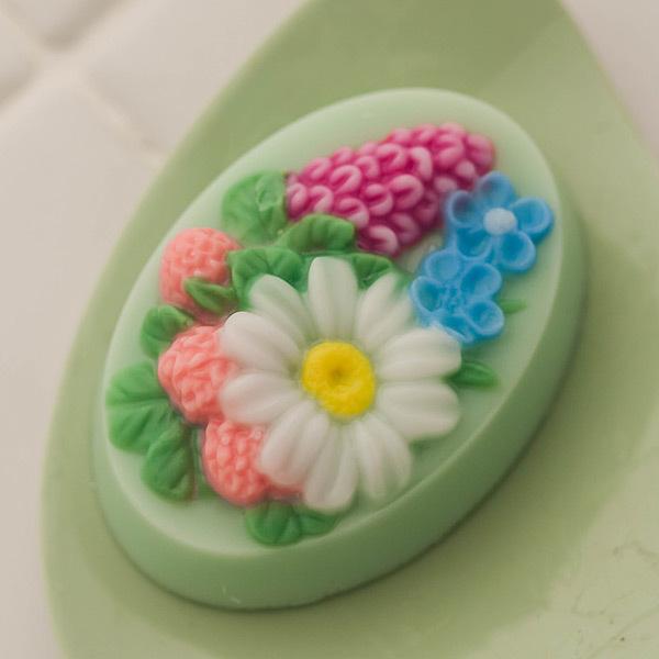 Пластиковая форма для мыла Полевые цветы