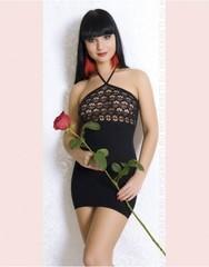 Сексуальное платье с кружевным верхом