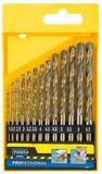 Набор сверл по металлу 19  (d=1-10 мм), STAYER PROFI 29602-H19, DIN 338