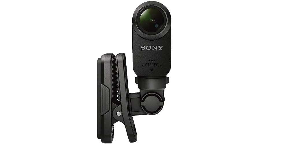 Клипса на кепку Sony AKA-CAP1 вид спереди с камерой