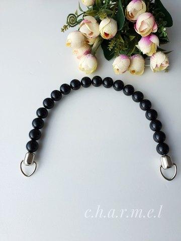 Ручка для сумки металл+пластик, цвет черный