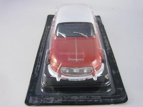 Tatra 603-1 red-white 1:43 DeAgostini Auto Legends USSR #155